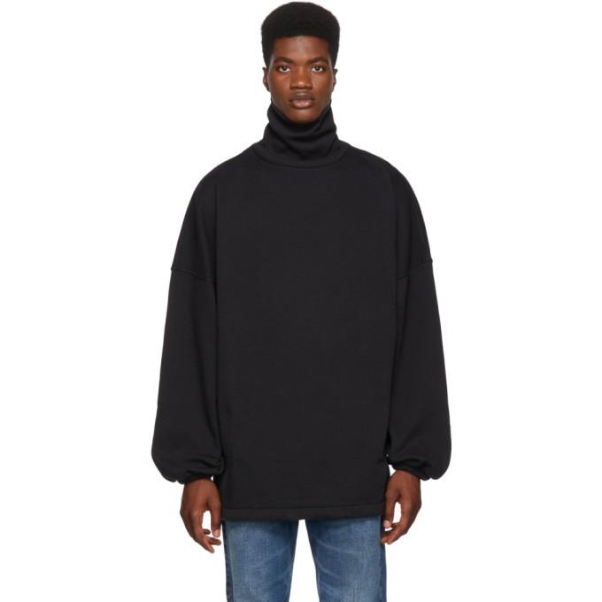 Photo: Balenciaga Black Oversized Jersey Turtleneck
