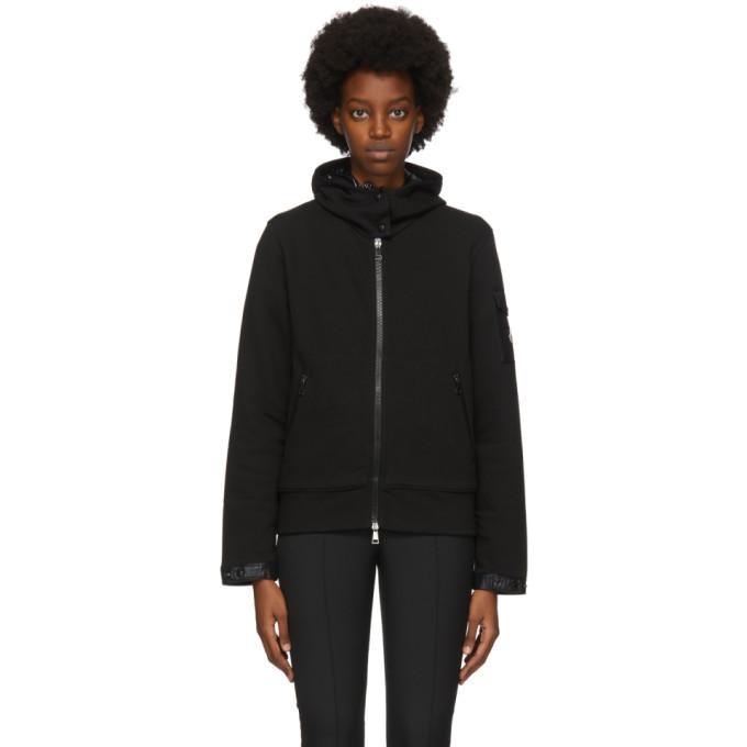 Photo: Moncler Black Sleeve Detail Zip-Up Hoodie