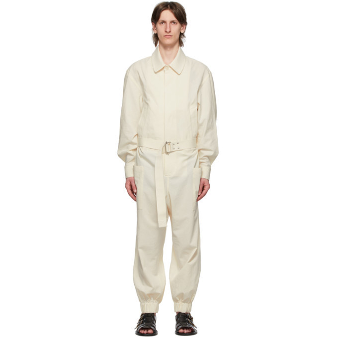 Photo: Hed Mayner Off-White Overall Jumpsuit