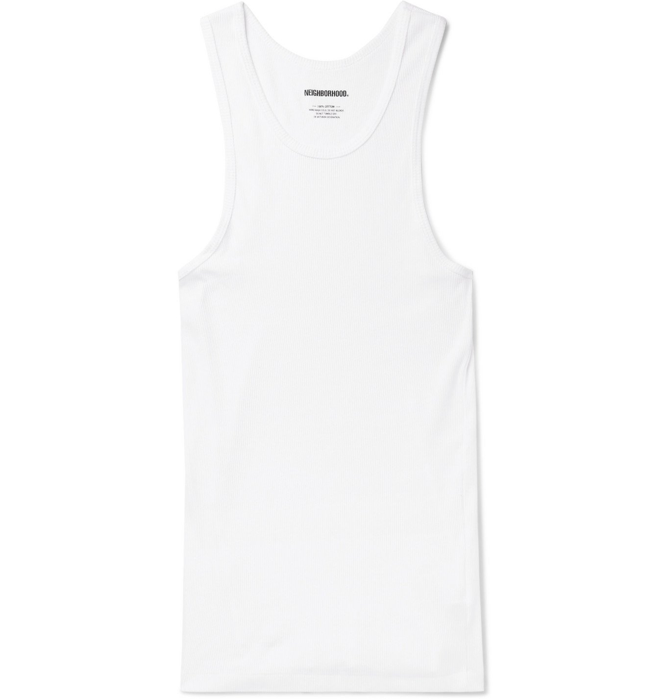 Photo: Neighborhood - Three-Pack Ribbed Cotton-Jersey Tank Tops - White