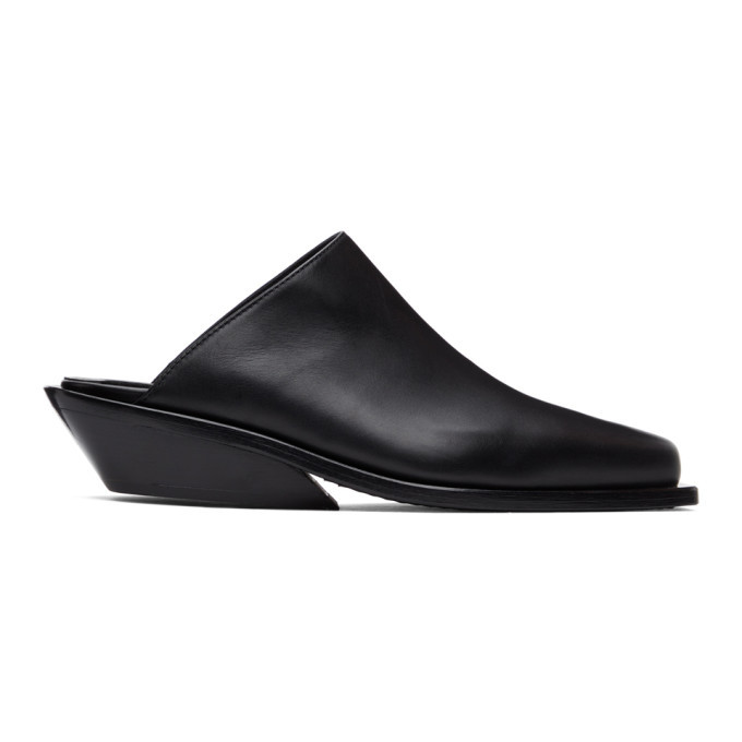 Photo: Ann Demeulemeester Black Leather Loafers