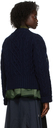 Sacai Khaki & Navy Nylon Twill Mix Jacket