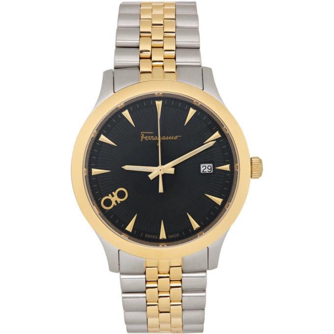 Photo: Salvatore Ferragamo Silver and Gold Duo 40MM Watch