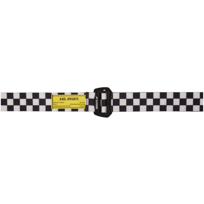 Photo: Axel Arigato Black and White Grid Belt
