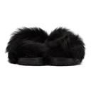 Sacai Black Lamb Fur Sandals
