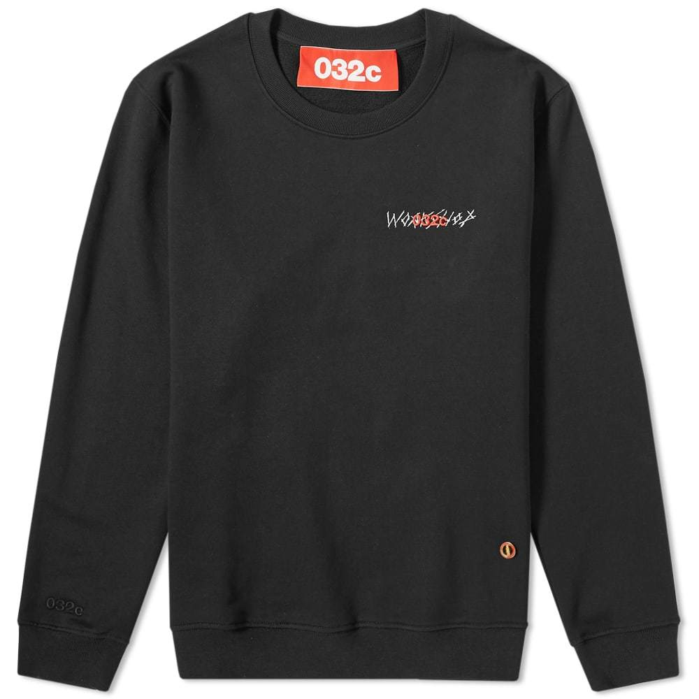 Photo: 032c Small Logo Crew Sweat Black