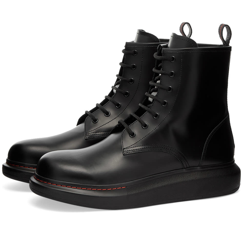 Photo: Alexander McQueen Leather Wedge Sole Boot