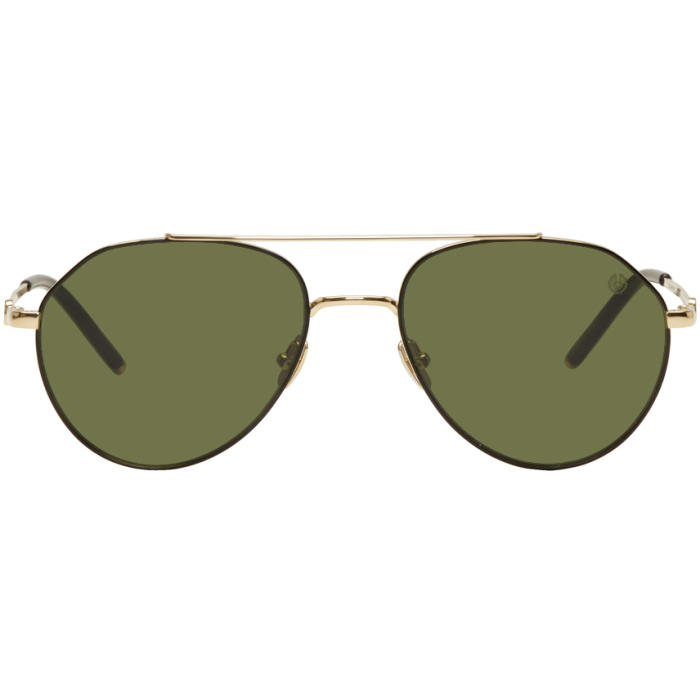 Photo: Belstaff Gold Roadmaster Aviator Sunglasses