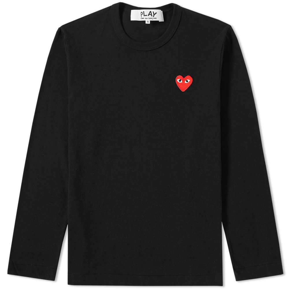 Photo: Comme des Garcons Play Long Sleeve Basic Logo Tee
