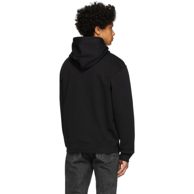 Versace Jeans Couture Black Warranty Print Hoodie