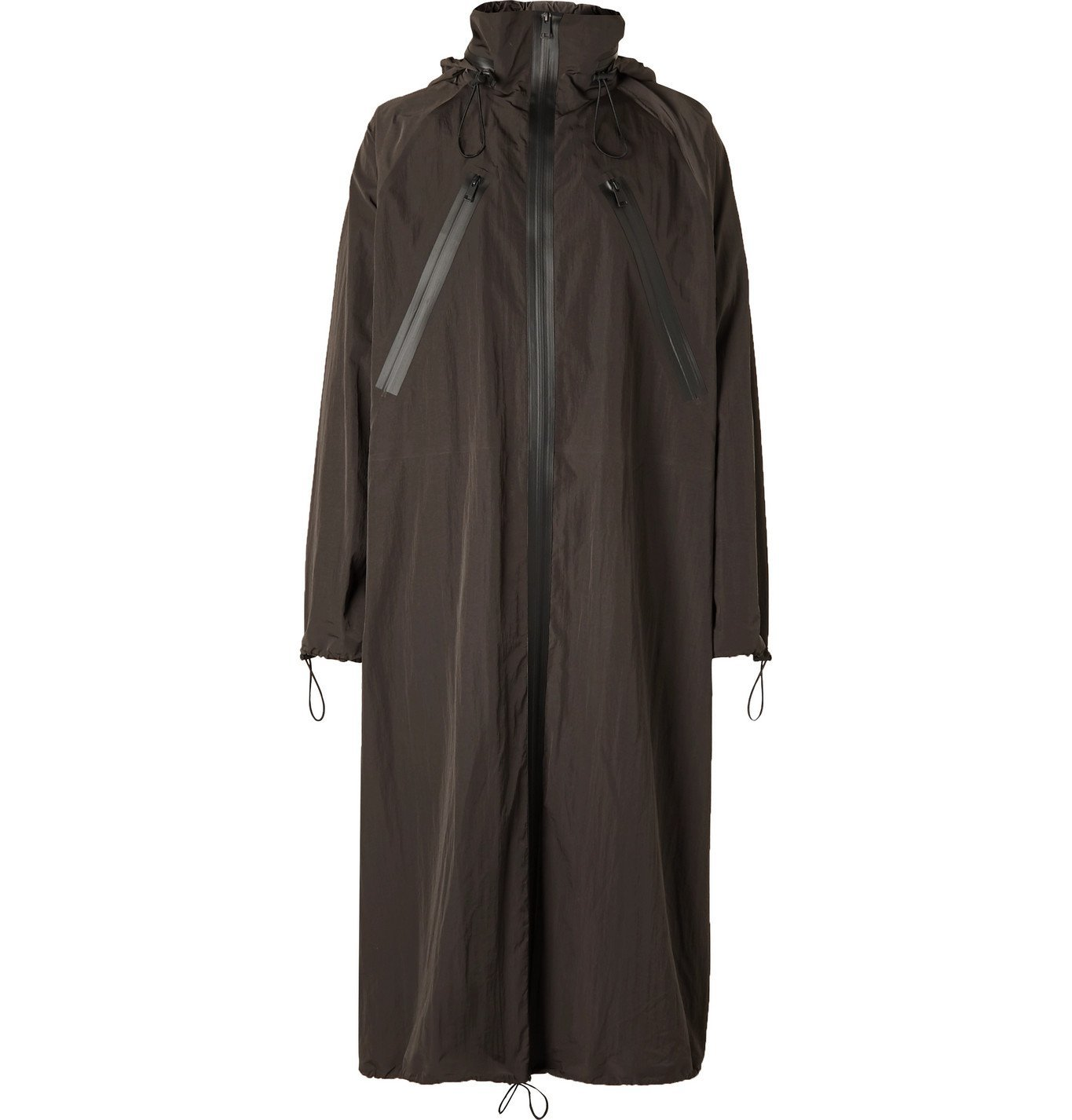 Photo: Bottega Veneta - Oversized Washed-Shell Hooded Raincoat - Brown