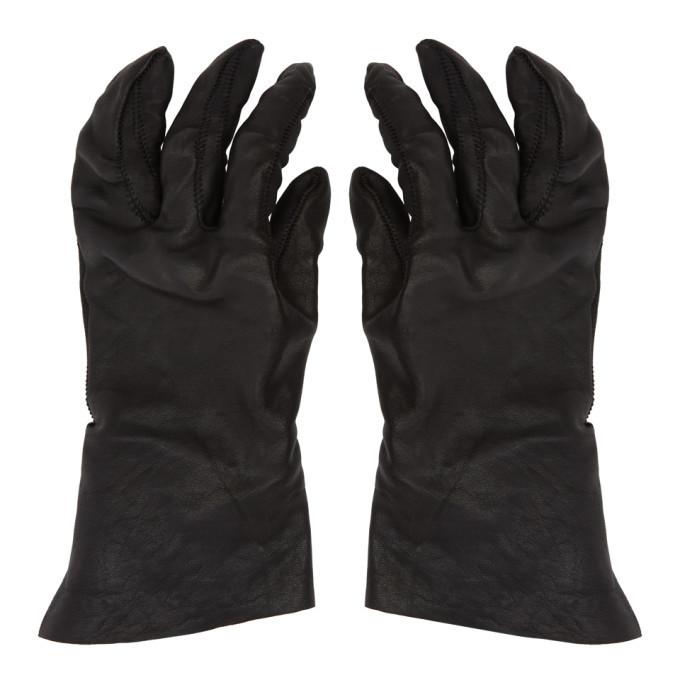 Photo: Boris Bidjan Saberi Black Vegetable-Tanned Gloves