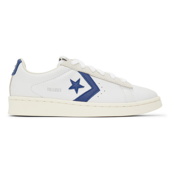 Photo: Converse White and Navy Pro Leather OG OX Sneakers