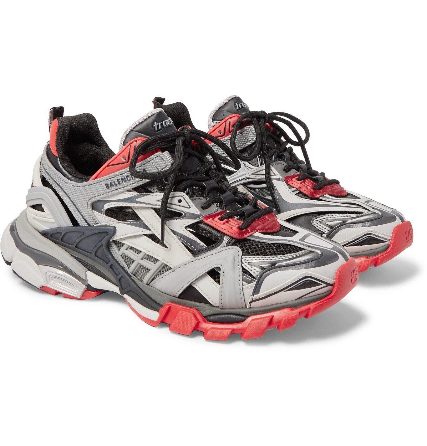 Photo: Balenciaga - Track.2 Nylon, Mesh and Rubber Sneakers - Black