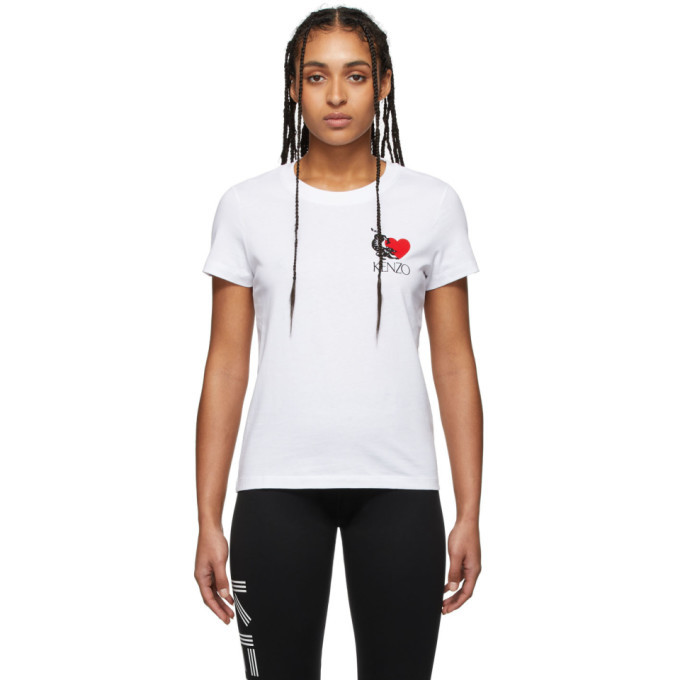 Photo: Kenzo White Limited Edition Valentines Day Lucky Tiger T-Shirt