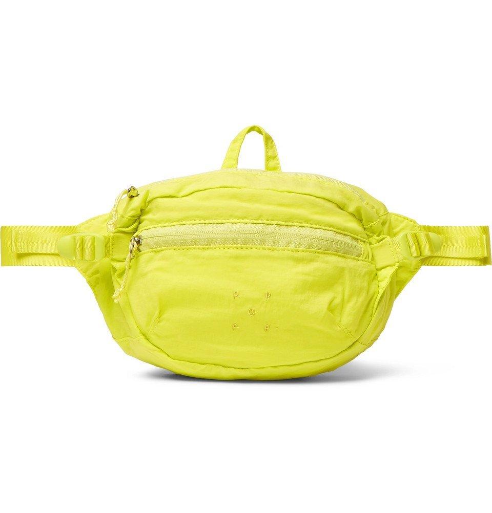 Photo: Pop Trading Company - Shell Belt Bag - Bright yellow