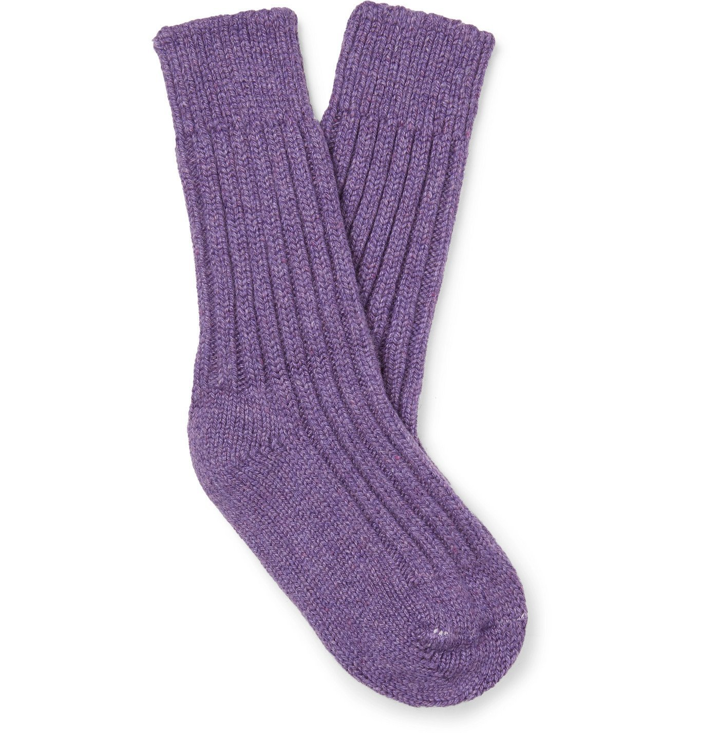 Photo: The Elder Statesman - Yosemite Mélange Cashmere Socks - Purple