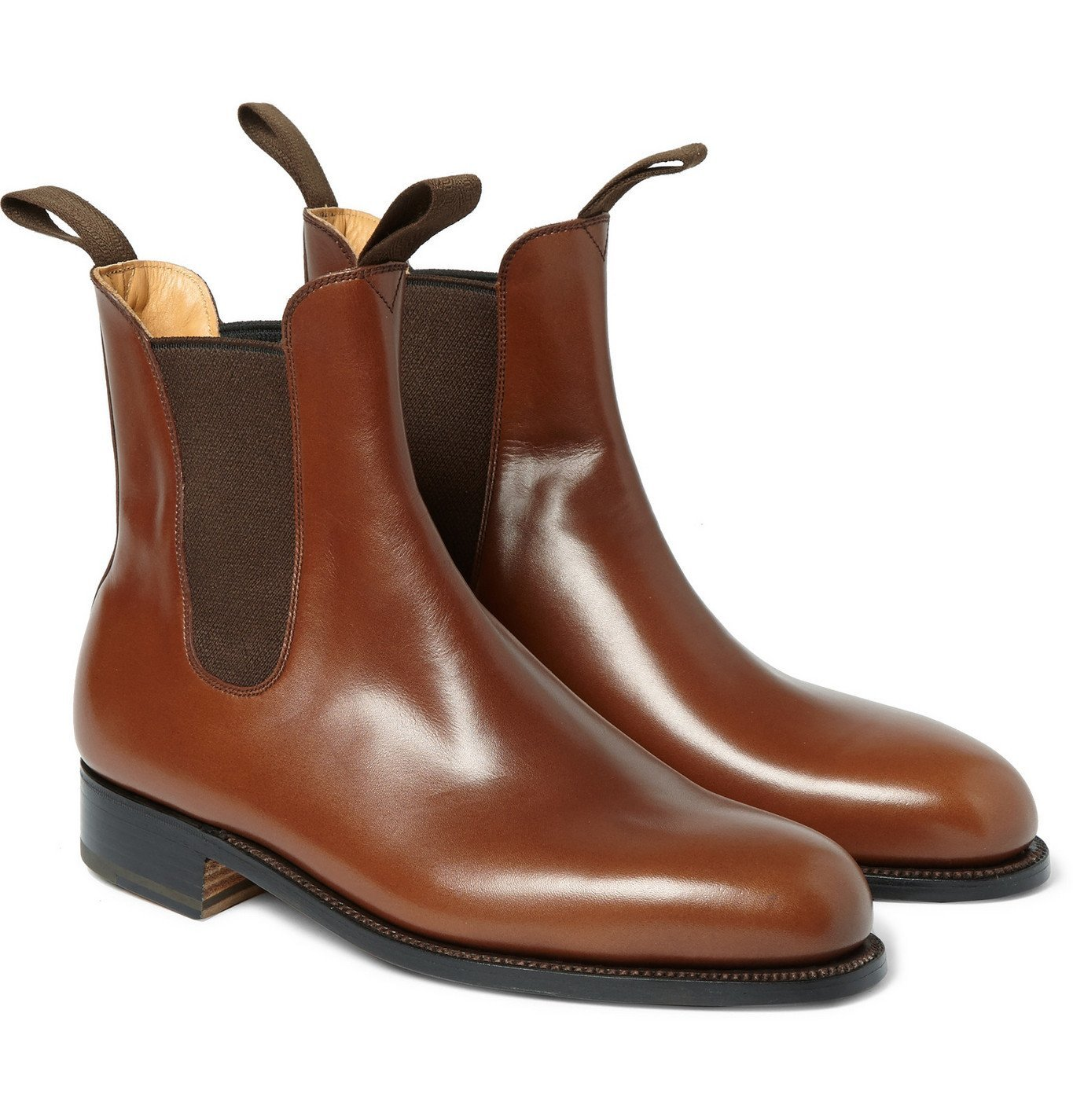 Photo: J.M. Weston - Goodyear®-Welted Leather Chelsea Boots - Brown