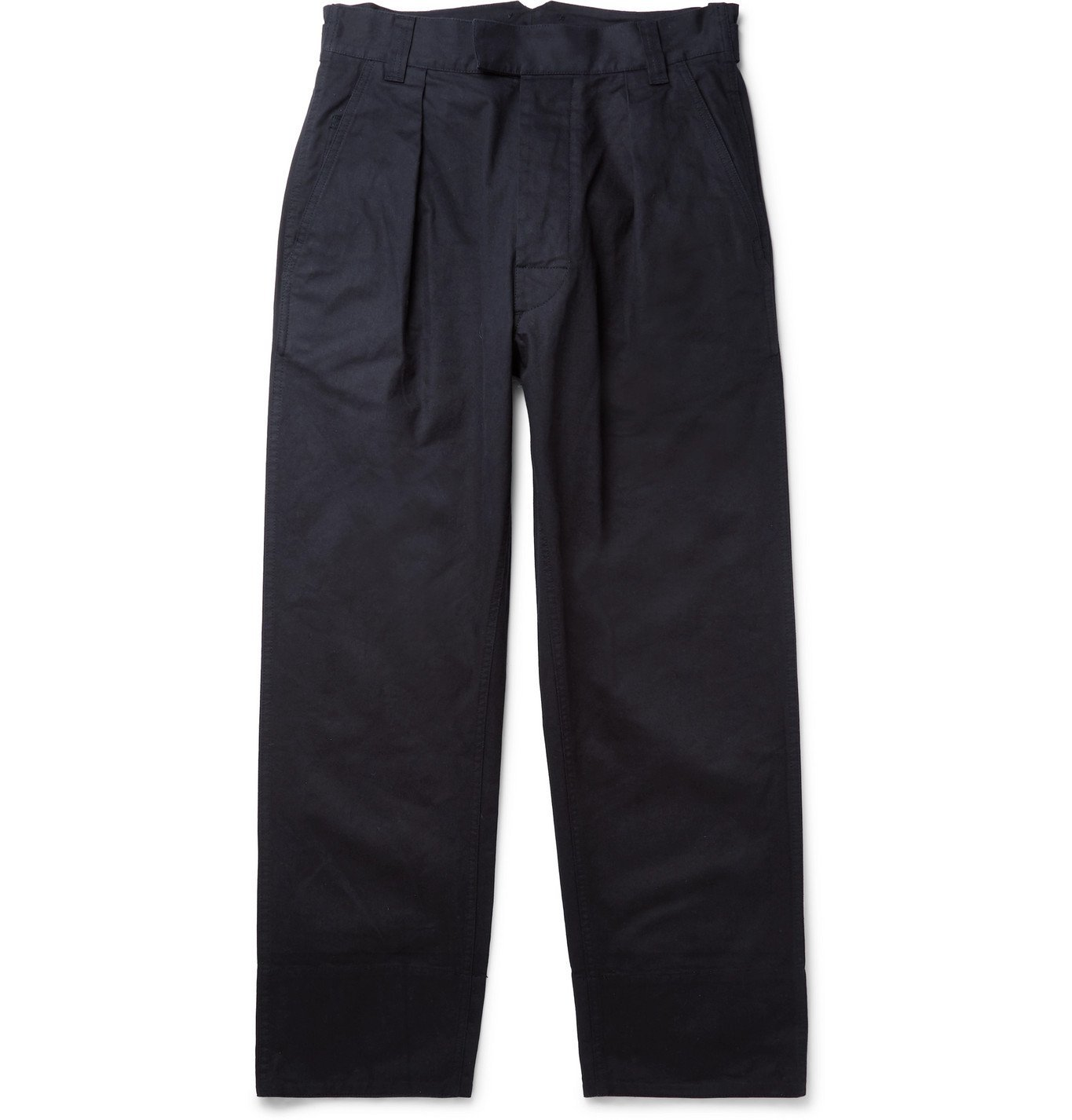 Photo: Margaret Howell - Pleated Cotton-Drill Trousers - Blue