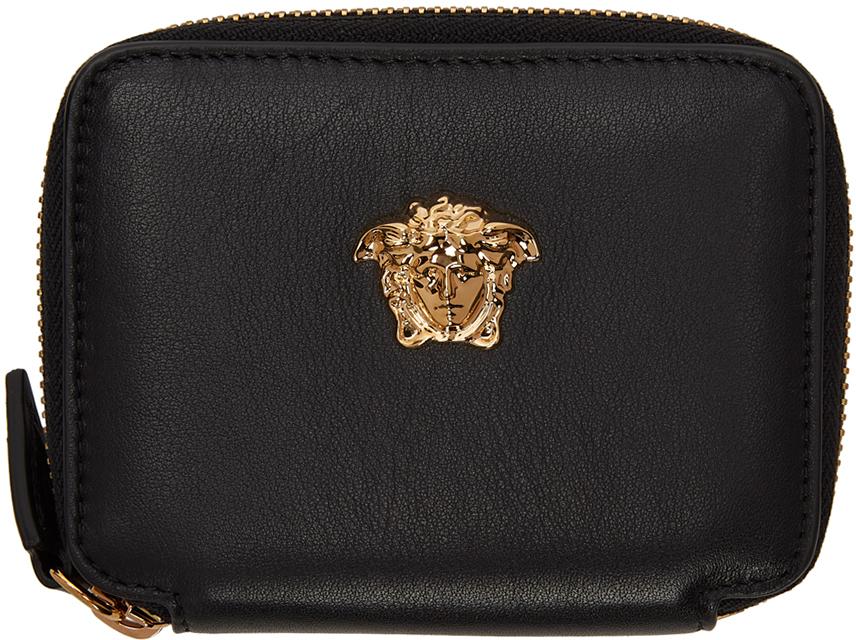 Photo: Versace Black 'La Medusa' Zip Wallet