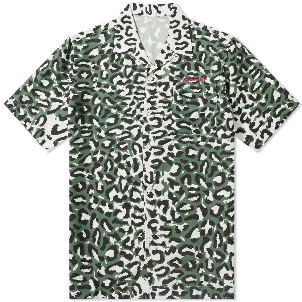 Photo: Maharishi Short Sleeve Leopard Camo Vaction Shirt Moss