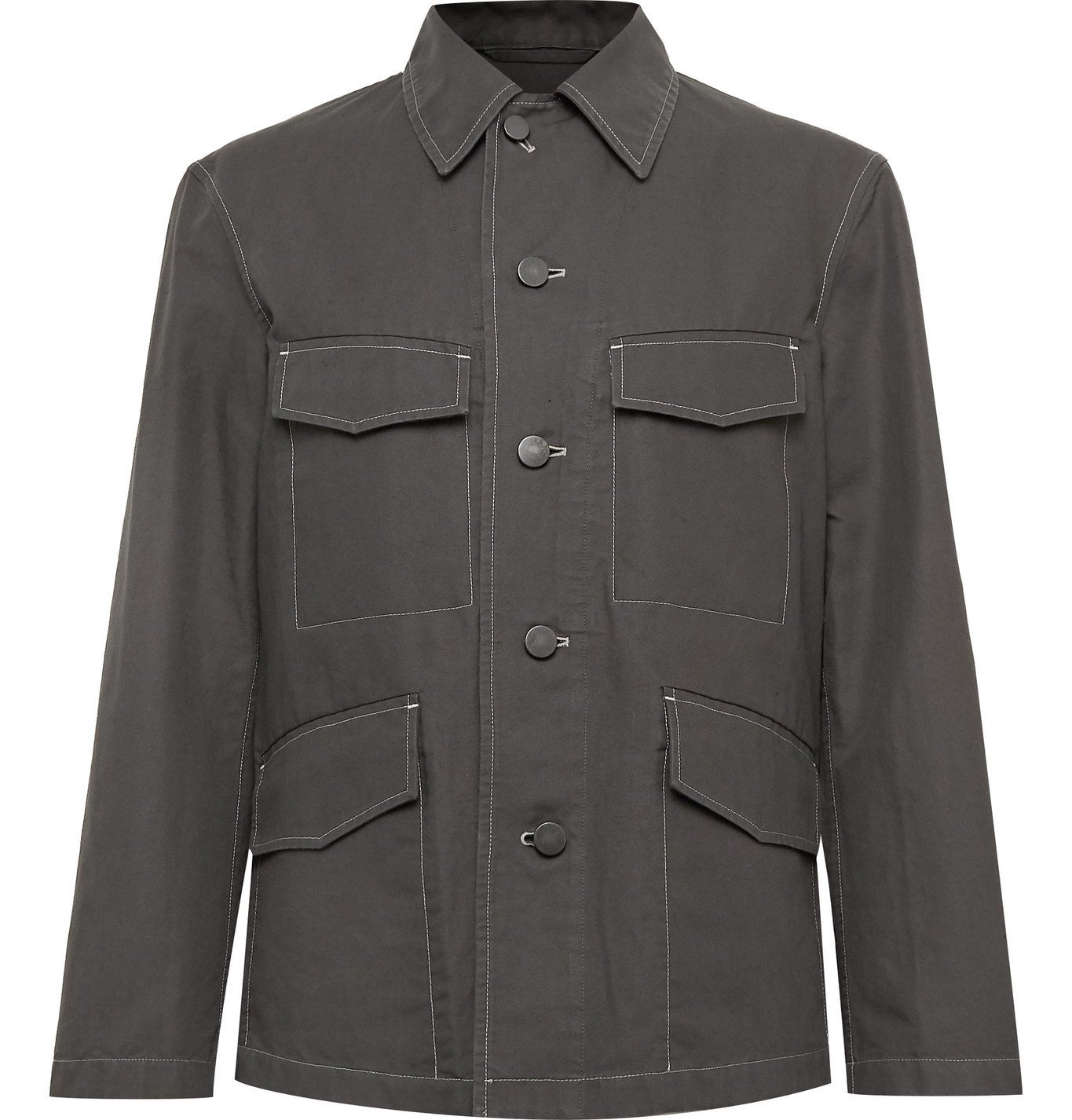 Photo: Lemaire - Cotton and Linen-Blend Canvas Field Jacket - Gray