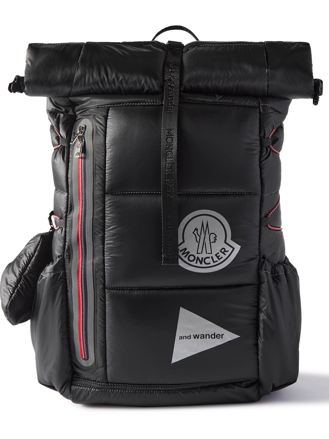 Photo: Moncler Genius - And Wander Logo-Appliquéd Quilted Shell Backpack