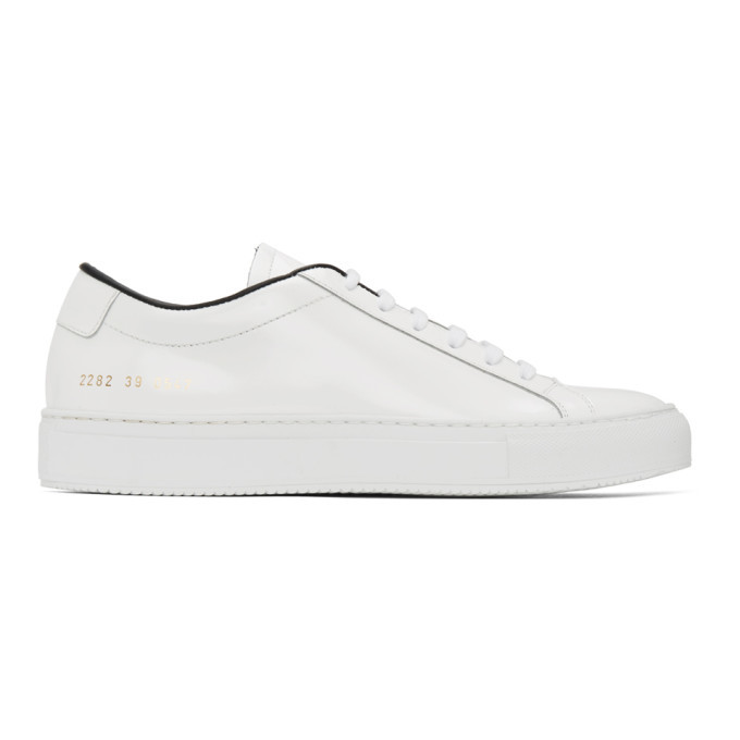 Photo: Common Projects White and Black Original Vintage Achilles Sneakers