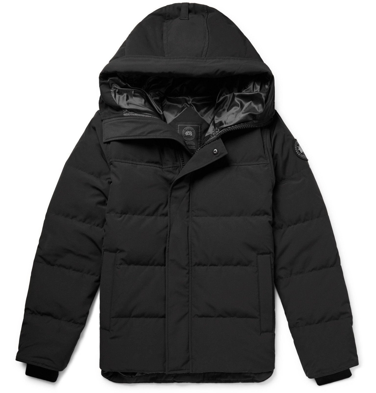 Photo: Canada Goose - MacMillan Fusion Fit Quilted Arctic Tech Hooded Down Parka - Black