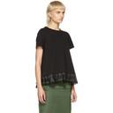 Sacai Black Cotton Jersey T-Shirt