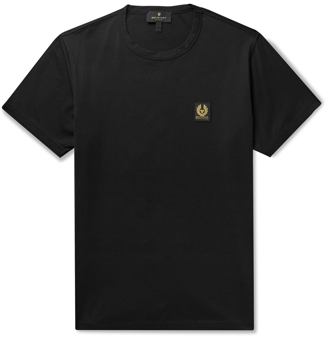 Photo: BELSTAFF - Slim-Fit Logo-Appliquéd Cotton-Jersey T-Shirt - Black