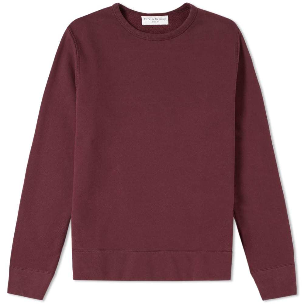 Photo: Officine Generale Pigment Dyed Crew Sweat Burgundy