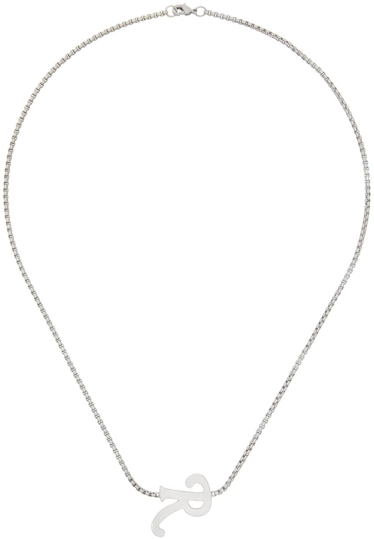 Photo: Raf Simons Silver 'R' Pendant Necklace