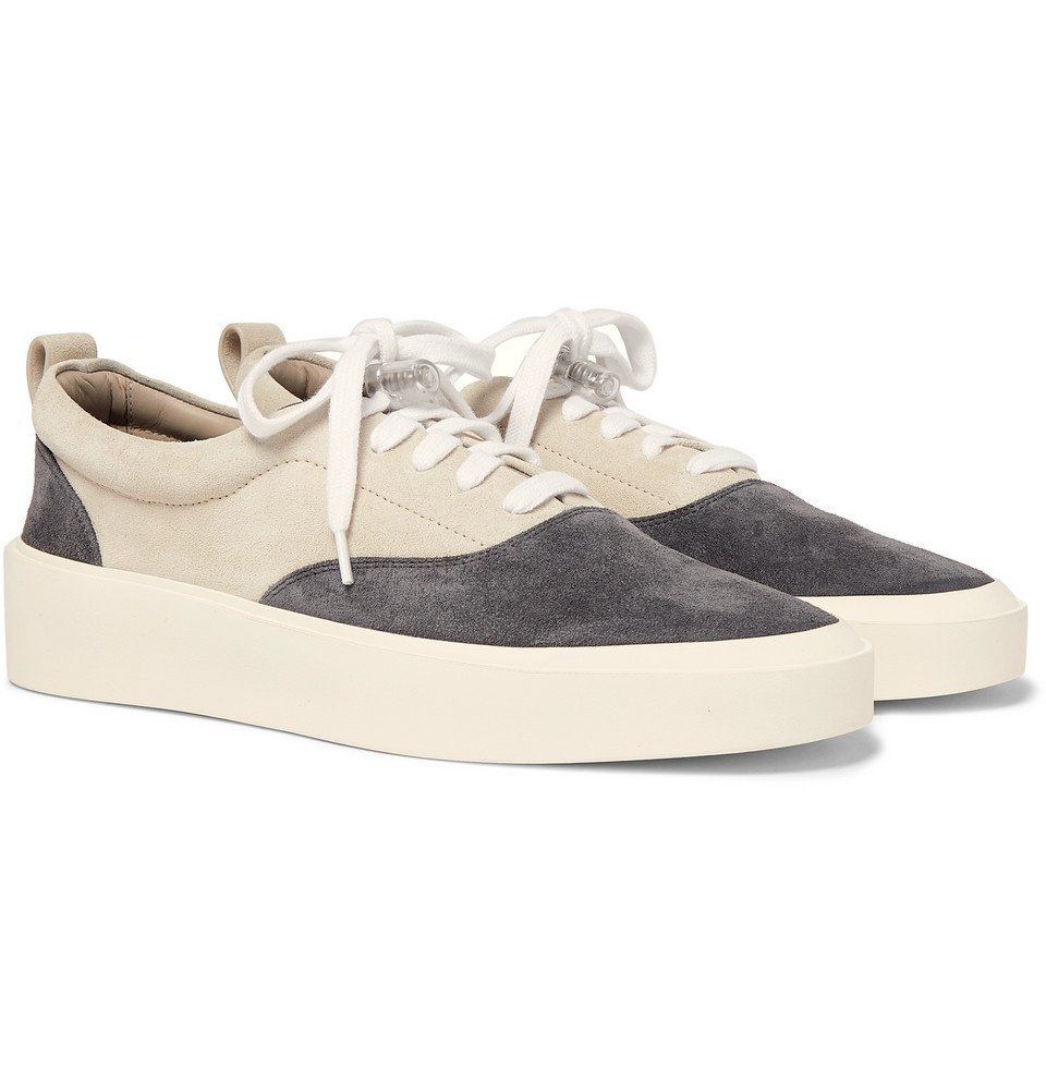 Photo: Fear of God - 101 Leather-Trimmed Suede Sneakers - Gray