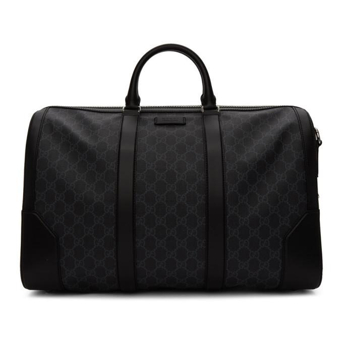 Photo: Gucci Black Soft GG Supreme Carry-On Duffle Bag