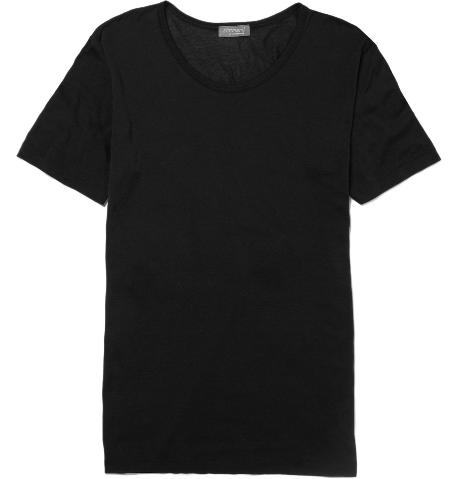 Photo: Zimmerli - Royal Classic Crew-Neck Cotton T-Shirt - Black
