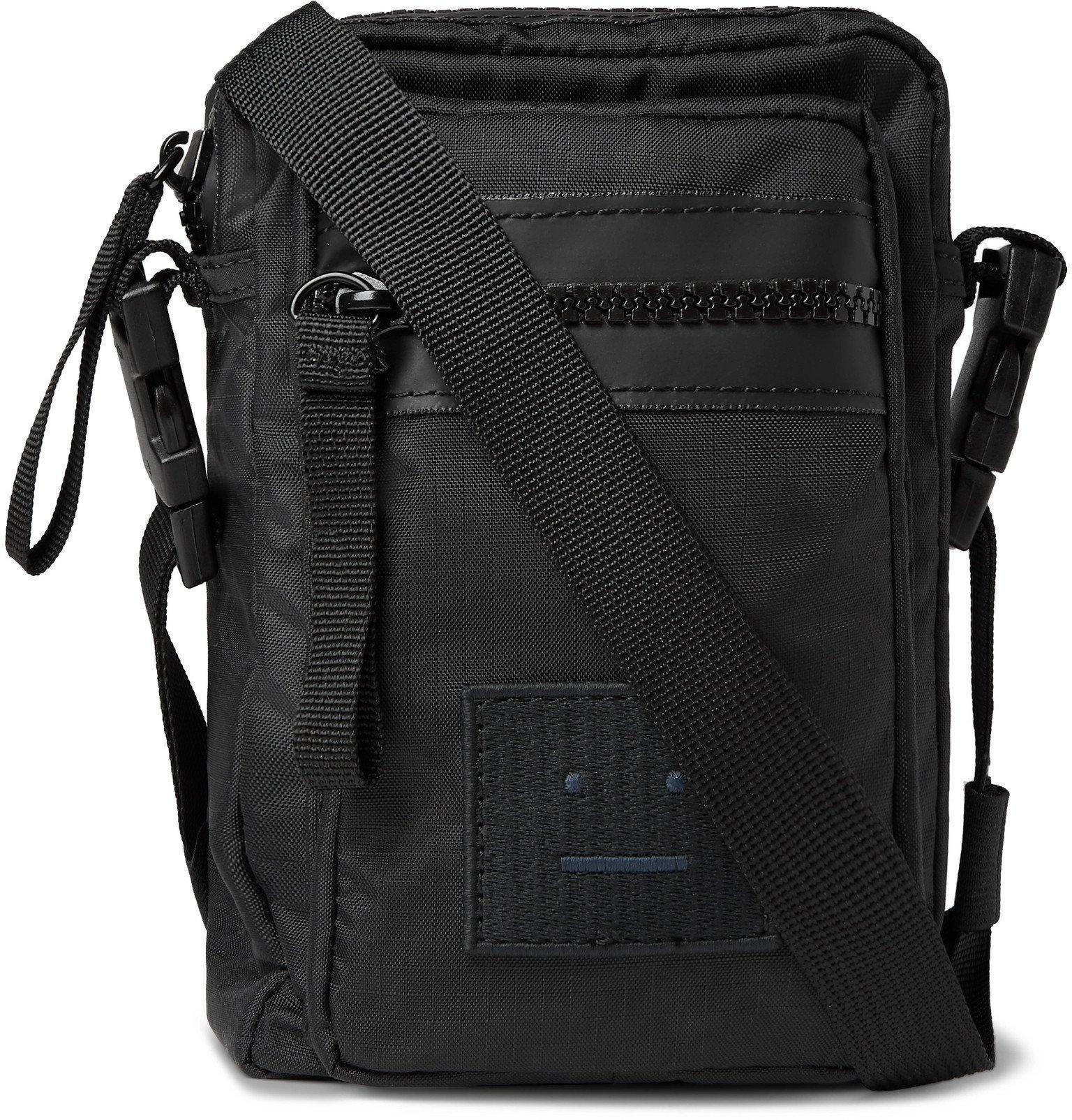 Photo: Acne Studios - Arvel Logo-Appliquéd Ripstop Messenger Bag - Black