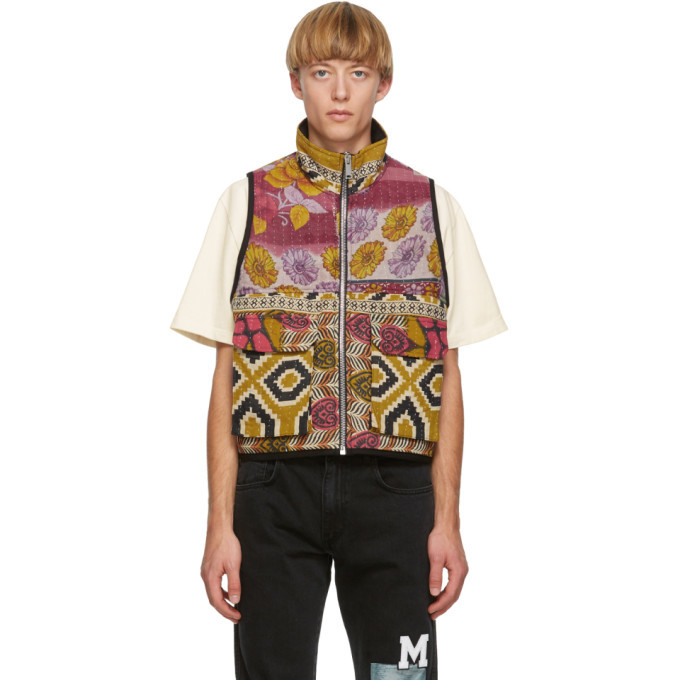 Photo: Mr. Saturday SSENSE Exclusive Multicolor Quilted Vest