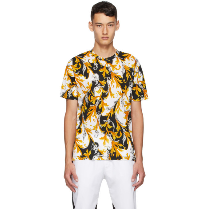 Photo: Versace White and Gold Acanthus Taylor T-Shirt
