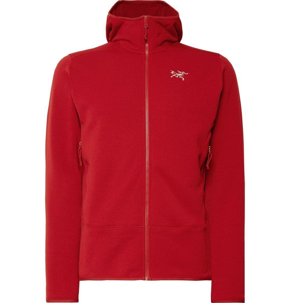 Photo: Arc'teryx - Kyanite Slim-Fit Polartec Stretch Pro Zip-Up Hoodie - Men - Red