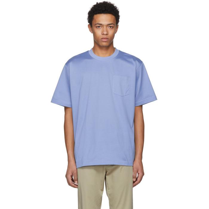 Sacai Blue Basic Cotton T-Shirt
