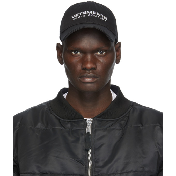 Photo: VETEMENTS Black Reflective Logo Cap