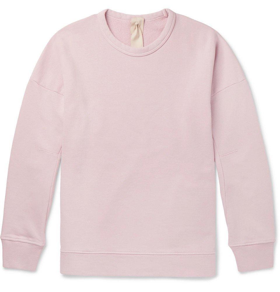 Photo: Ten C - Garment-Dyed Fleece-Back Cotton-Jersey Sweatshirt - Pink