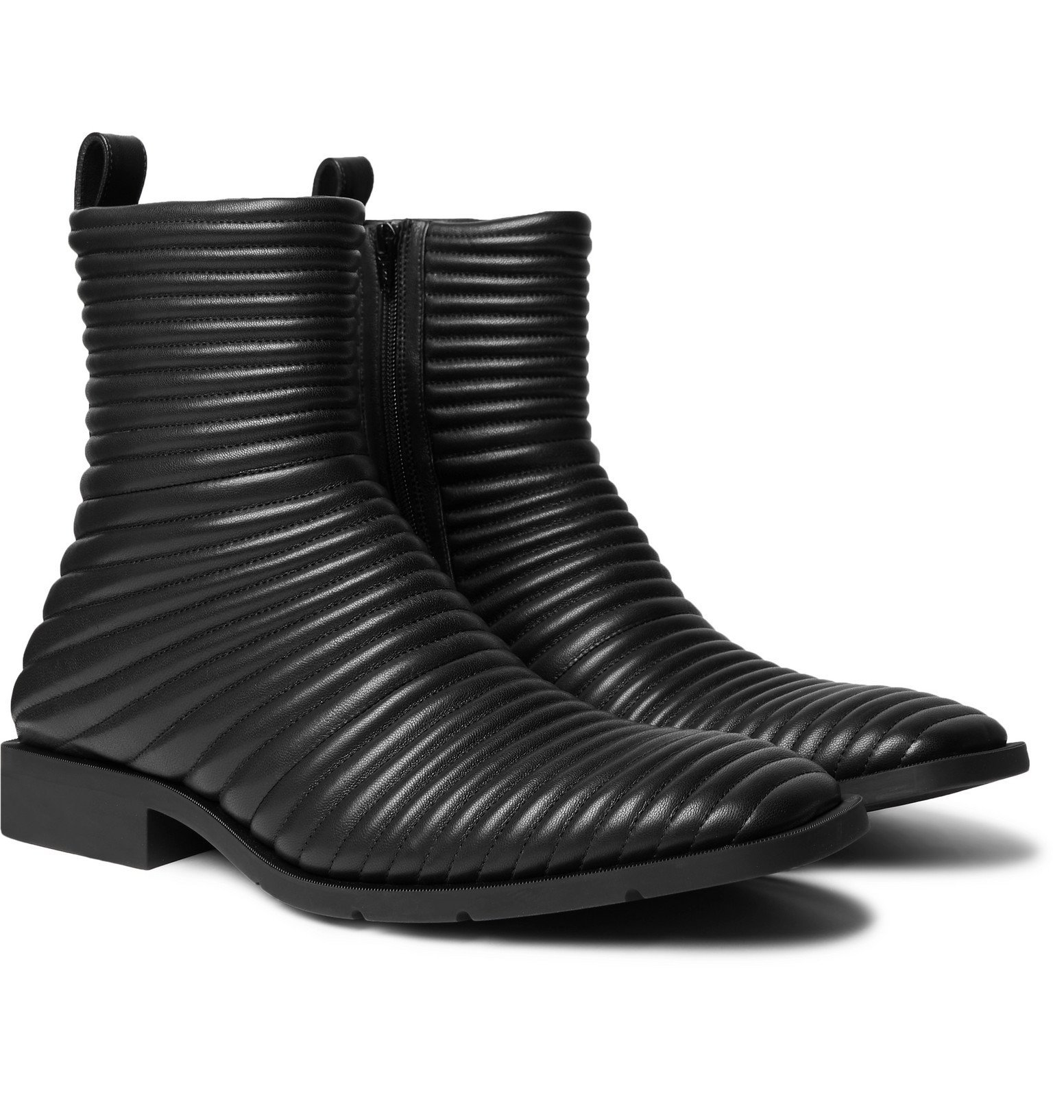 Photo: Balenciaga - Quilted Leather Boots - Black
