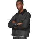 Ksubi Black Denim Borg Oh G Jacket