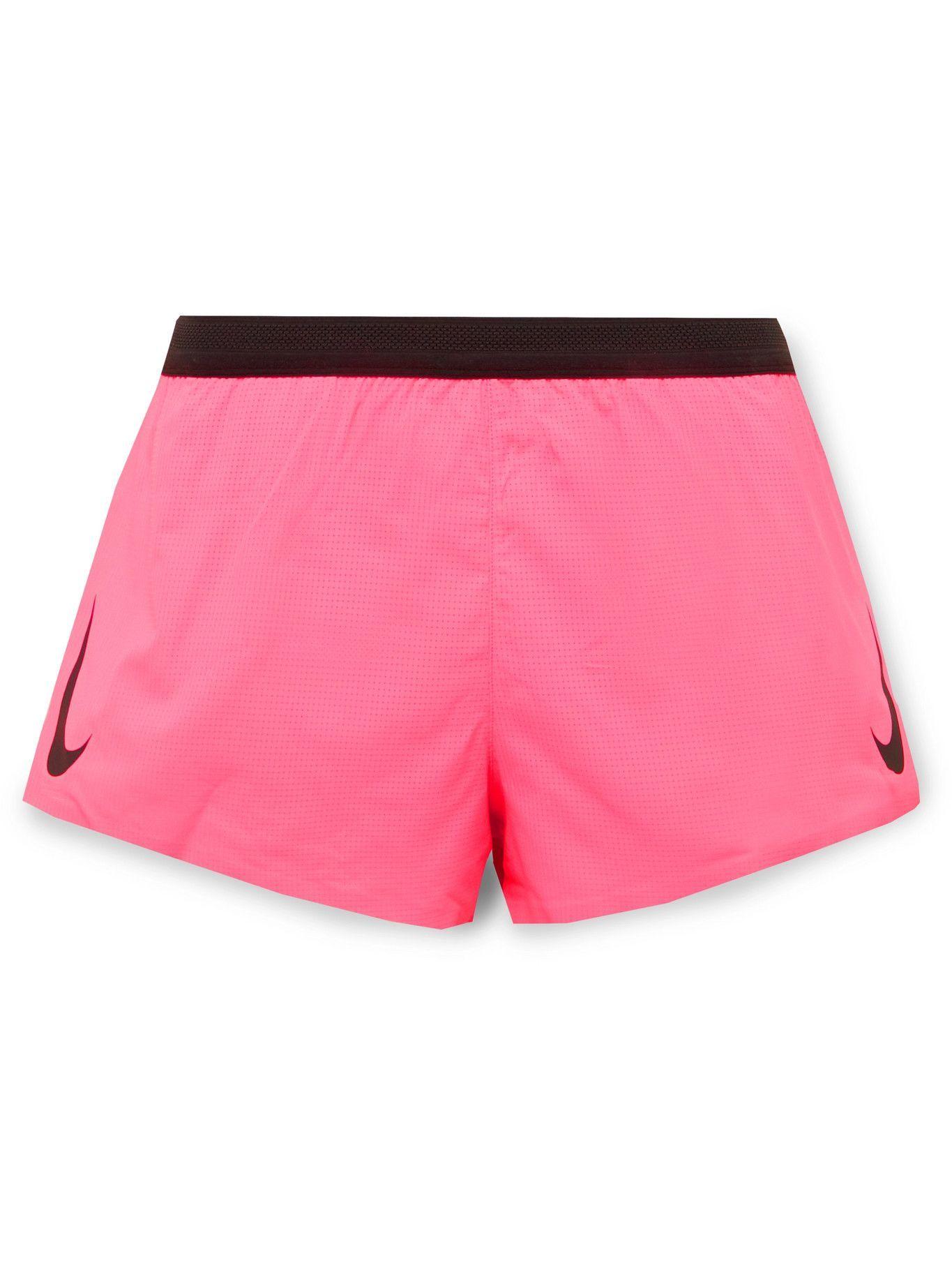 Photo: Nike Running - Aeroswift Slim-Fit Dri-FIT Shorts - Pink