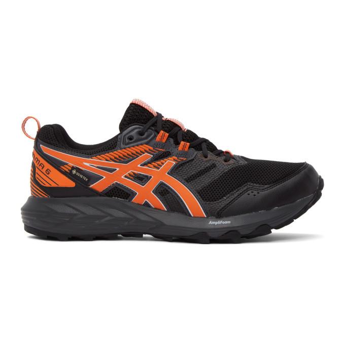 Photo: Asics Black and Orange Gel-Sonoma 6 G-TX Sneakers