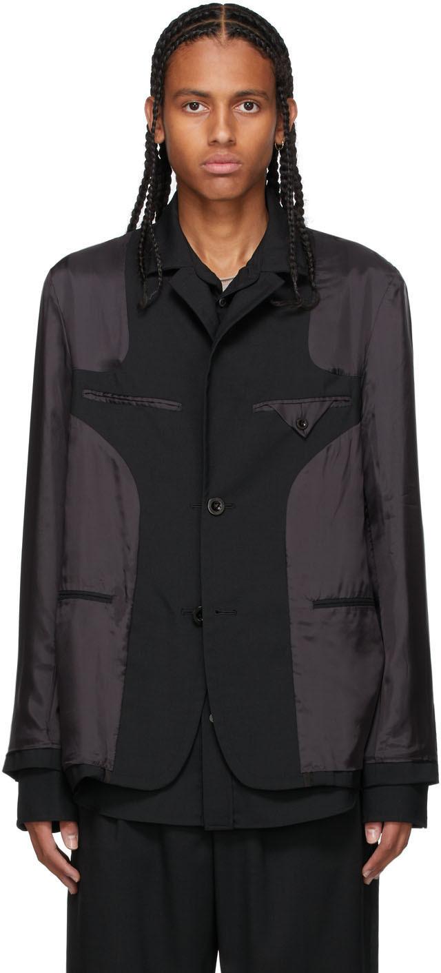 Photo: Sacai Black Layered Suiting Blazer