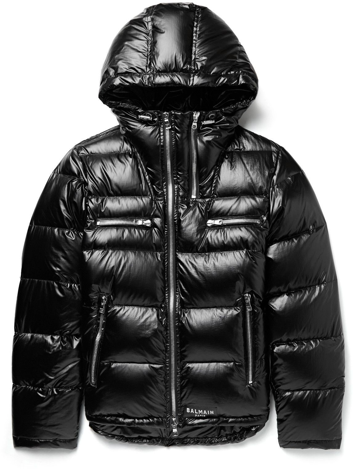 Photo: Balmain - Slim-Fit Quilted Shell Hooded Down Jacket - Black