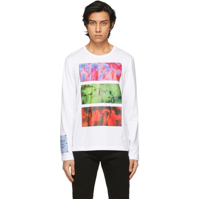 MCQ White Regular Long Sleeve T-Shirt